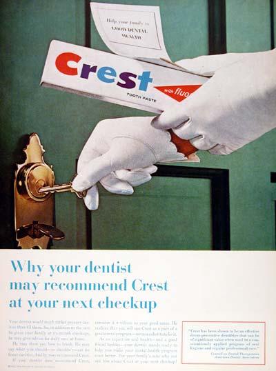 Crest Toothpaste Ad, 1964