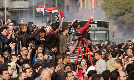 Egyptians protest Cairo
