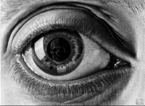 Art-drawing-MC-Escher- Eye-1946-Mezzotint