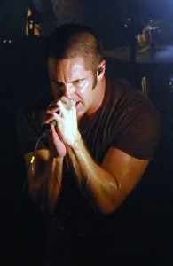 Trent Reznor Nine Inch Nails on stage singing 2009
