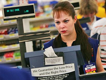 Walmart Cashier rude