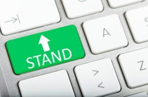 Green STAND upward arrow key