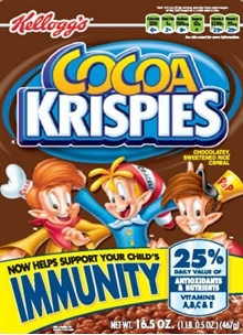 """Cocoa Krispies """"Immunity"""" Cereal – 40% Sugar by Weight + Trans Fats"""