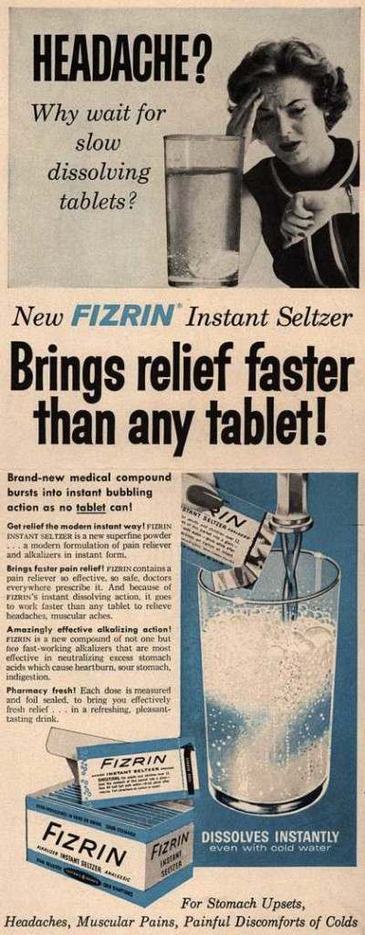 Fizrin Instant Seltzer - Headache? Why wait for slow dissolving tablets