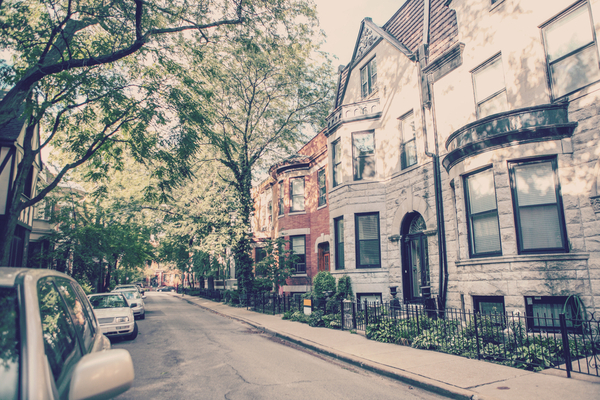 Chicago rowhouse neighborhood