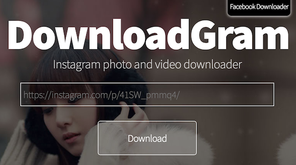 Downloadgram homepage