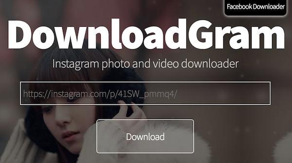 Downloadgram homepage