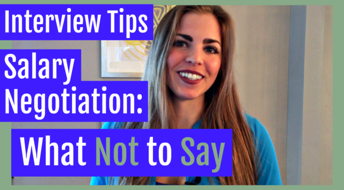 interview tips what not to say