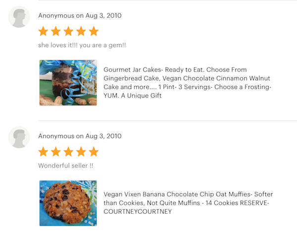 Reviews of Adore A Jar Bakery Etsy shop - jar cakes